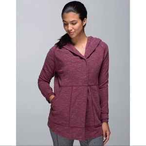 Lululemon Find Your Centre Wrap Marled Rust Berry